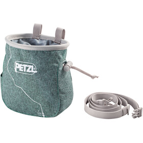 Petzl Saka Chalk Bag, green mottled
